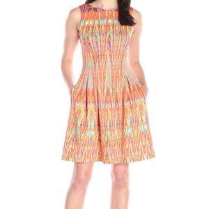 Gabby Skye Women's Aztec Printed A-line Dress